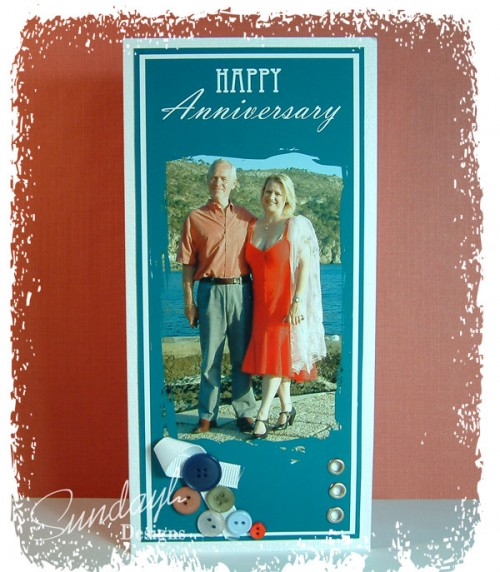Hybrid Anniversary card for a Man