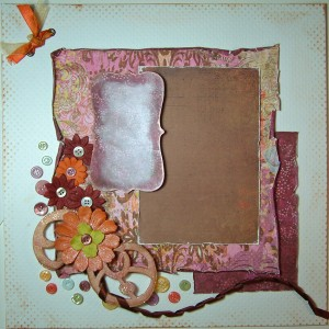 Scrapbook page ready for photo and journaling