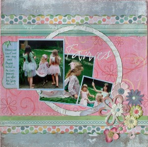 Fairies Scrapbook Page by SundayL