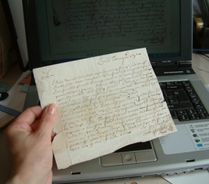 This letter was written in 1698!