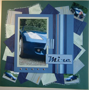 """All Mine"" Scrapbook Page by SundayL"