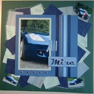 """""""All Mine"""" Scrapbook Page by SundayL"""