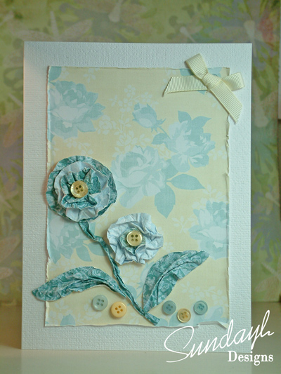 Crumpled Flower Card by SundayL