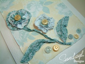 Wet Crumpled Flower Card by SundayL (more detail)