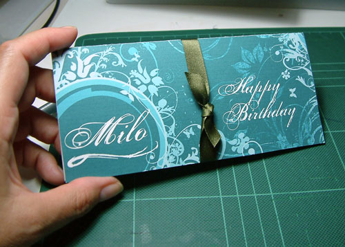 Birthday Vouchers Case for a Man