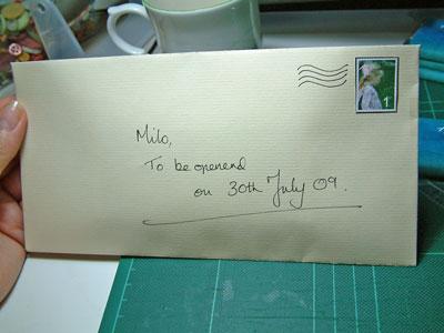 Envelope embellished with freebie download stamp