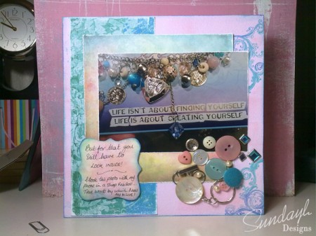 Creating Yourself - Scrapbook Layout by SundayL