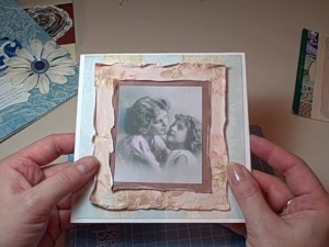 Distressing the edges of paper to great effect