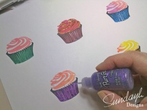 Using the Nook & Pantry Cupcake stamps