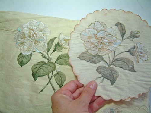 embroidered material photocopying