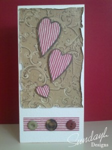 Valentines Card (stripes)