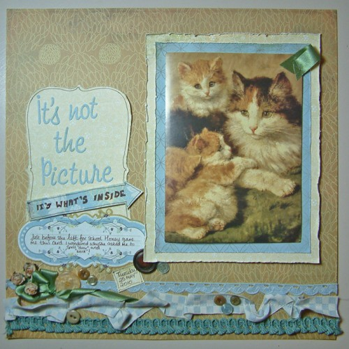 """It's Not the Picture"" Scrapbook page by SundayL"