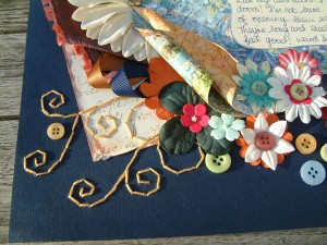 Sewing on a Scrapbook Page by SundayL