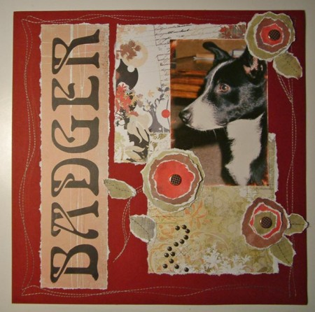 Scrapbook page-Badger by SundayL
