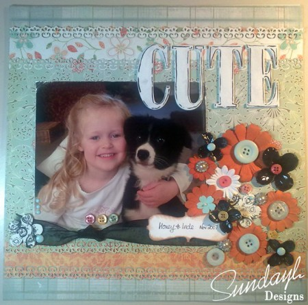 "Scrapbook Page ""Cute"" by SundayL"