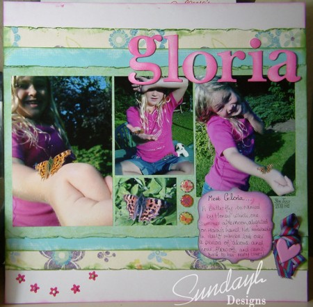 Scrapbook page - Gloria by SundayL