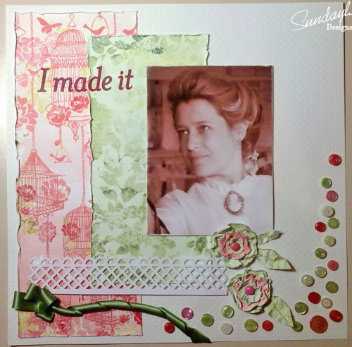 I Made it - Scrapbook Page by SundayL