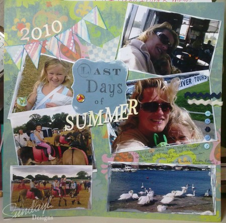 Last Days of Summer by SundayL- Scrapbook page