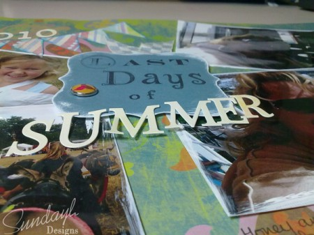 Last Days of Summer Scrapbook page close up by SundayL