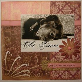 """""""Old Timer"""" Scrapbook Page by SundayL"""