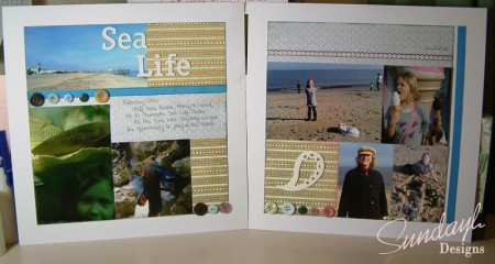 "Scrapbook Page ""Sea Life"" by SundayL"