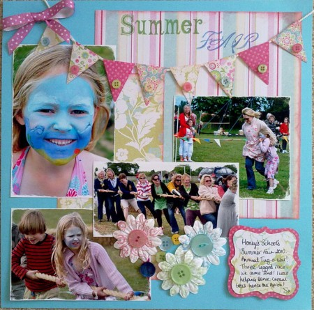 'Summer Fair' Scrapbook page by SundayL