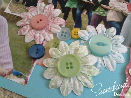 'Summer Fair' Scrapbook page by SundayL Closeup of Flowers