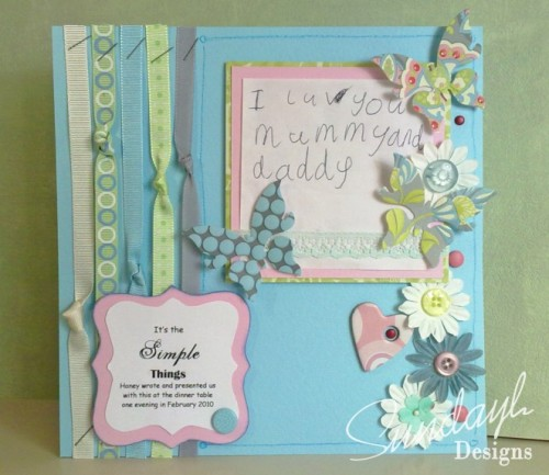 """The Simple Things"" Scrapbook Page by SundayL"