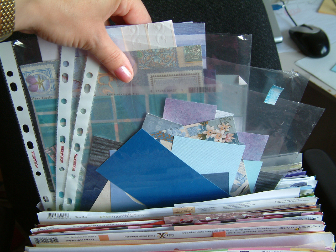 Scrapbooking Paper Storage Solution