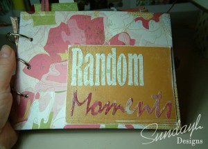 Random Moments mini scrapbook album