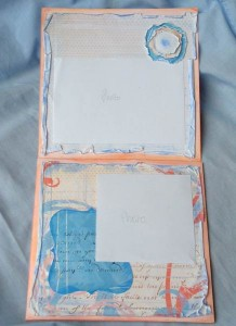 Scrapbook by the pool pages 1 and 2