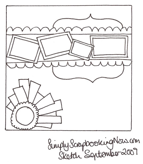 SimplyScrapbookingNow.com Newsletter Sept 09 Sketch