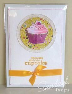 Cupcake card - Orange