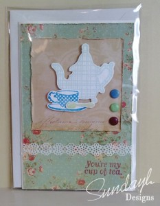 Nook and Pantry Stamps - Tea set card