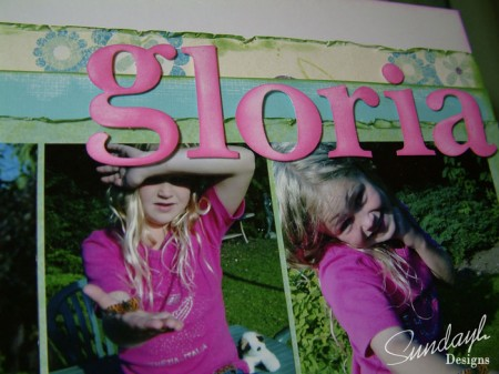 Scrapbook Title - Gloria by SundayL
