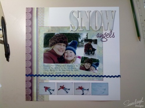 "Scrapbook Page ""Snow Angels"" by SundayL"