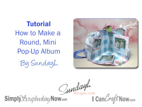 Video Tutorial pop-up Mini Album by SundayL
